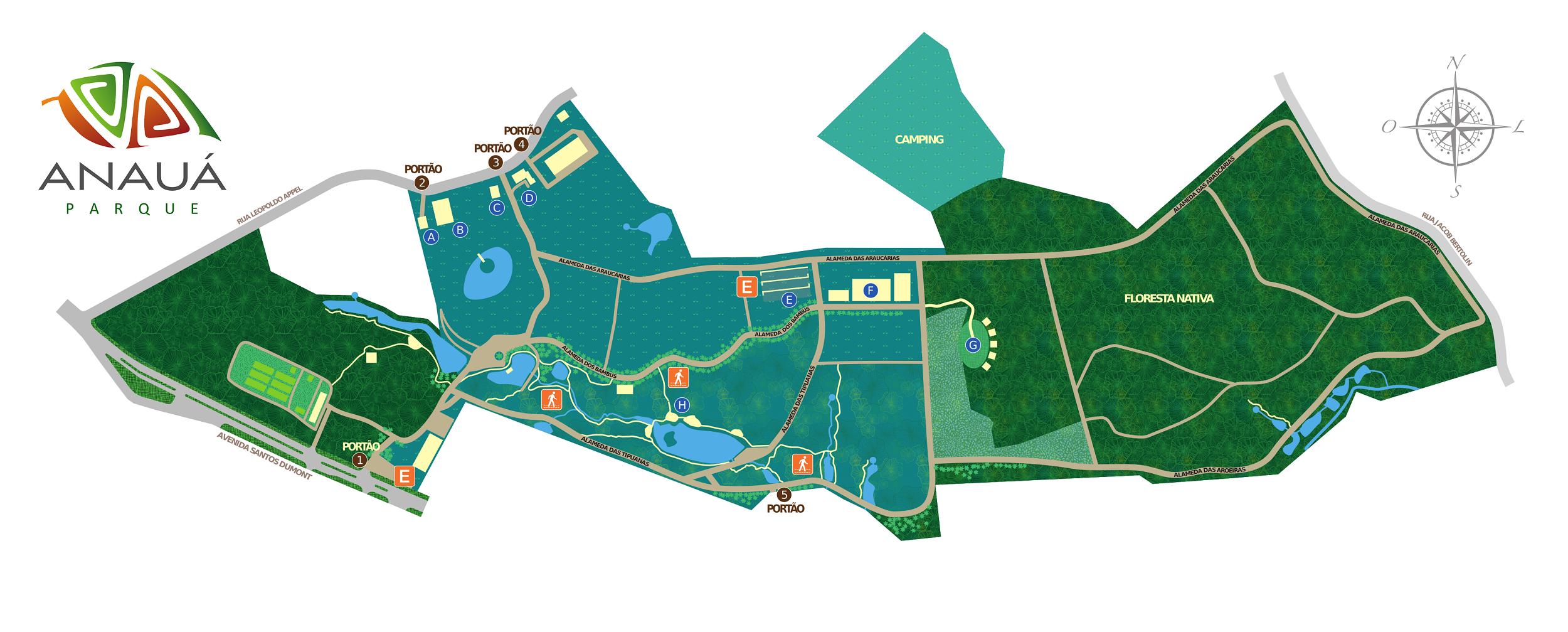 Mapa do Parque Anauá